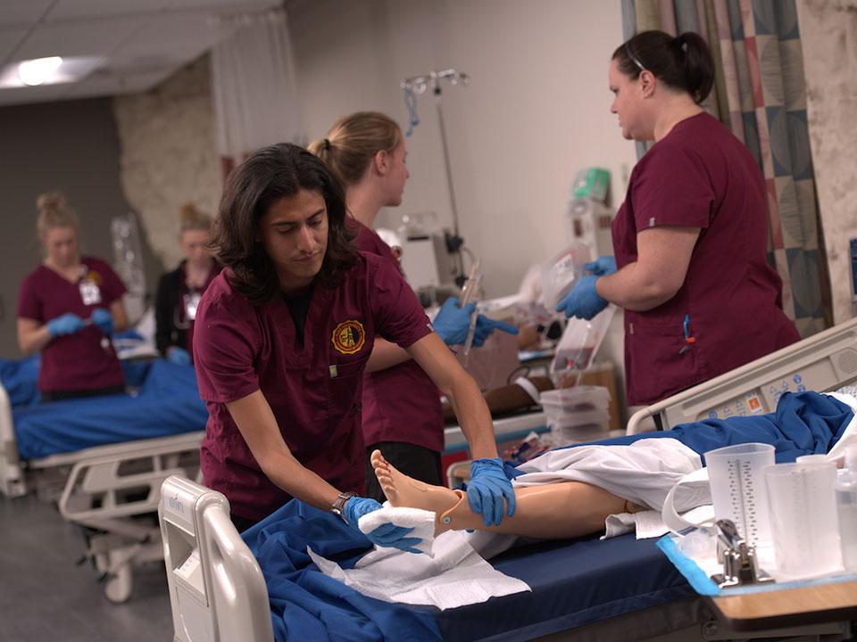 students in hospital