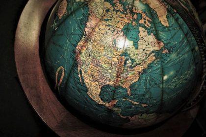 closeup of globe