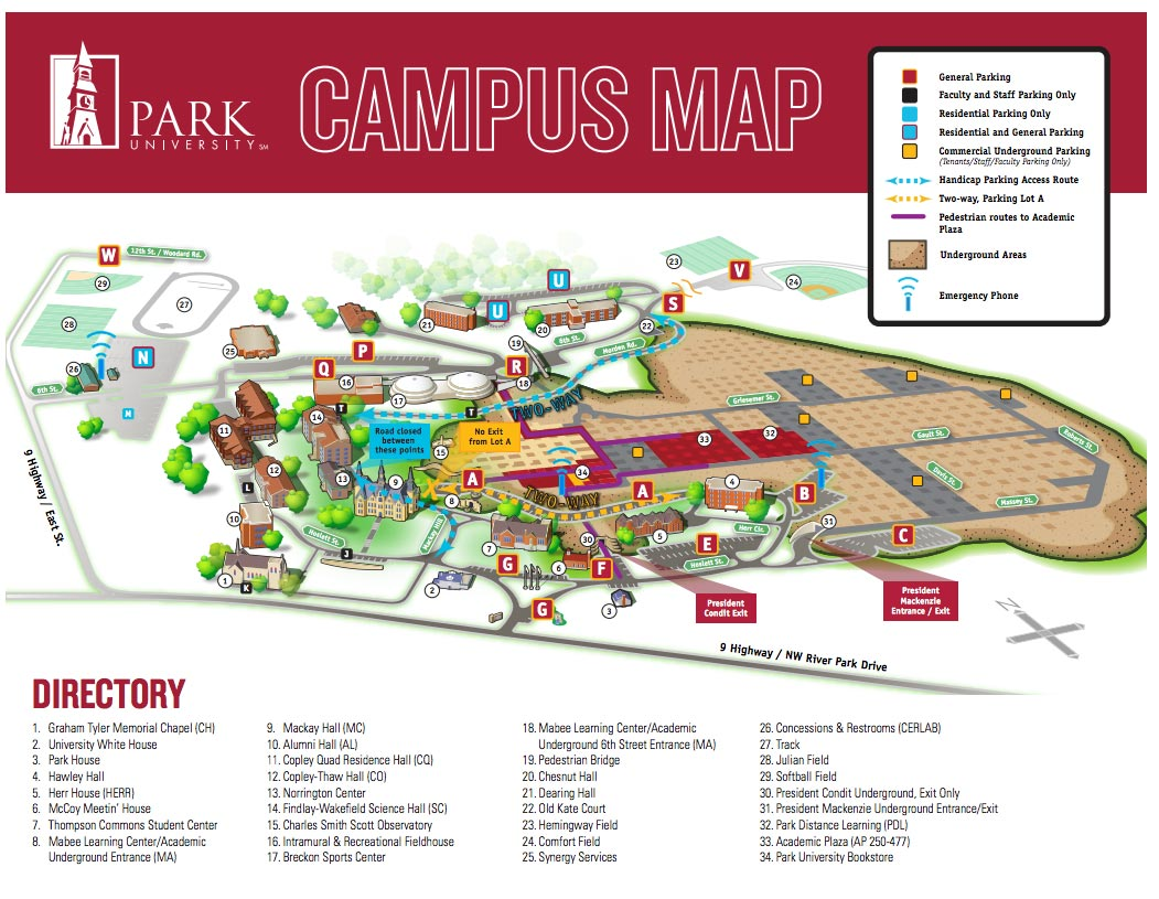 Parkville Campus Maps and Directions | Park University