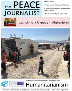 The Peace Journalist April 2021 cover