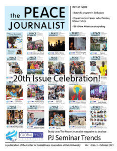The Peace Journalist Oct 2021 cover